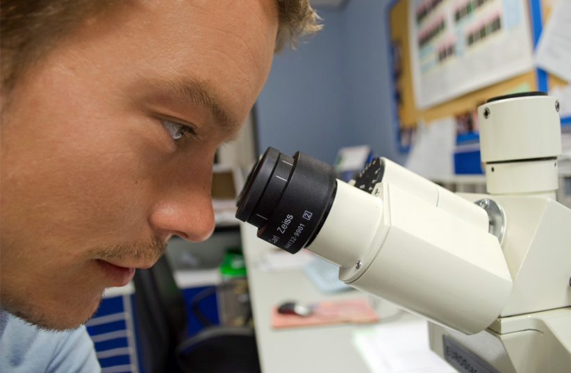 A STEM scholar does research (photo credit: Courtesy)