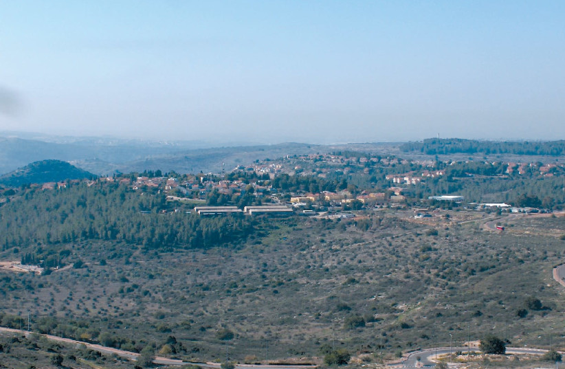 The community of Karnei Shomron is seen (photo credit: MICHAELI)