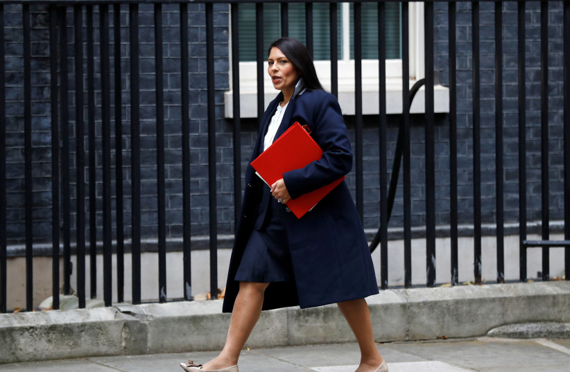 Priti Patel, Britain's Secretary of State for International Development arrives in Downing Street, in London. (photo credit: REUTERS)