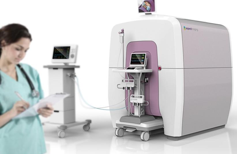 Shaare Zedek's MRI specially designed to examine infants is first in world (photo credit: SHAARE ZEDEK MEDICAL CENTER)