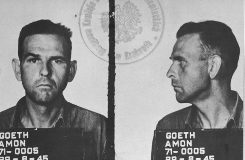 Nazi war criminal Amon Goth's headshot (photo credit: Wikimedia Commons)