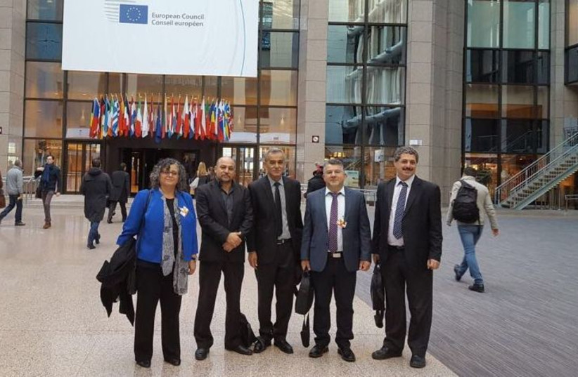 Israeli-Arab Knesset members at the EU. (photo credit: JOINT LIST)