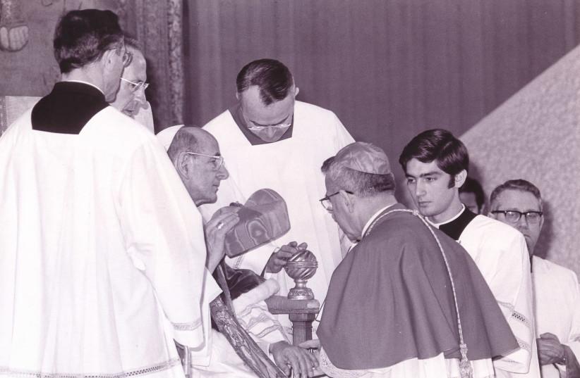 Pope Paul VI makes Albino Luciani (Pope John Paul I) a cardinal in 1973 (photo credit: PUBLIC DOMAIN)