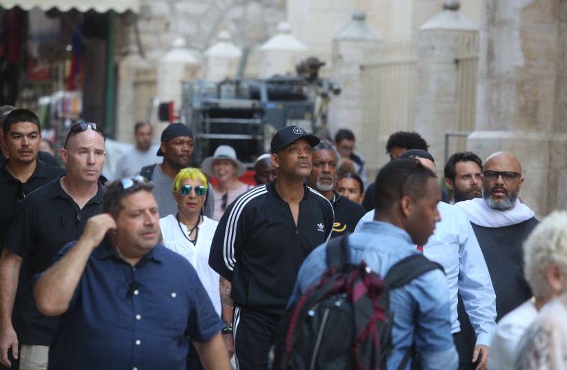 Will Smith spotted in the Old City of Jerusalem (photo credit: MARC ISRAEL SELLEM)