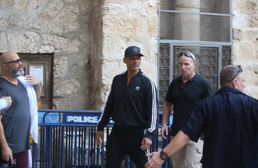 Will Smith spotted in Jerusalem's Old City (photo credit: MARC ISRAEL SELLEM)