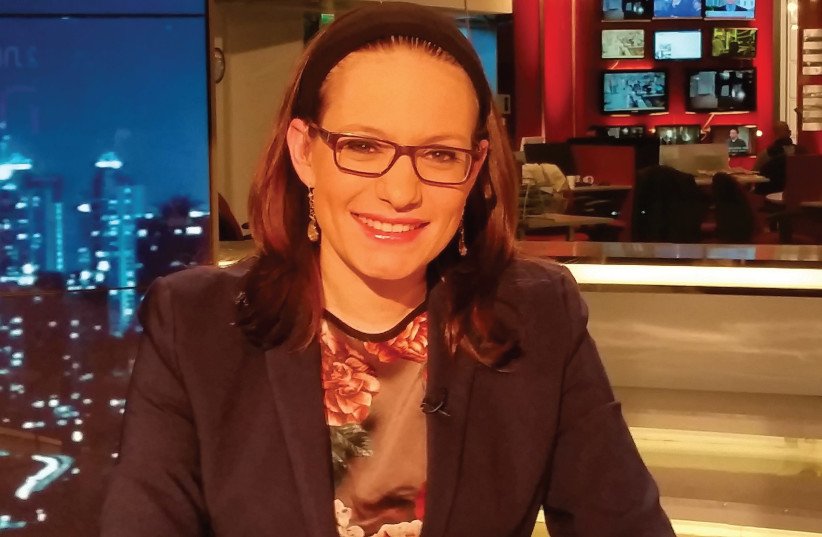 SIVAN RAHAV-MEIR in the Channel 2 News studio. (photo credit: OFER HADAD)