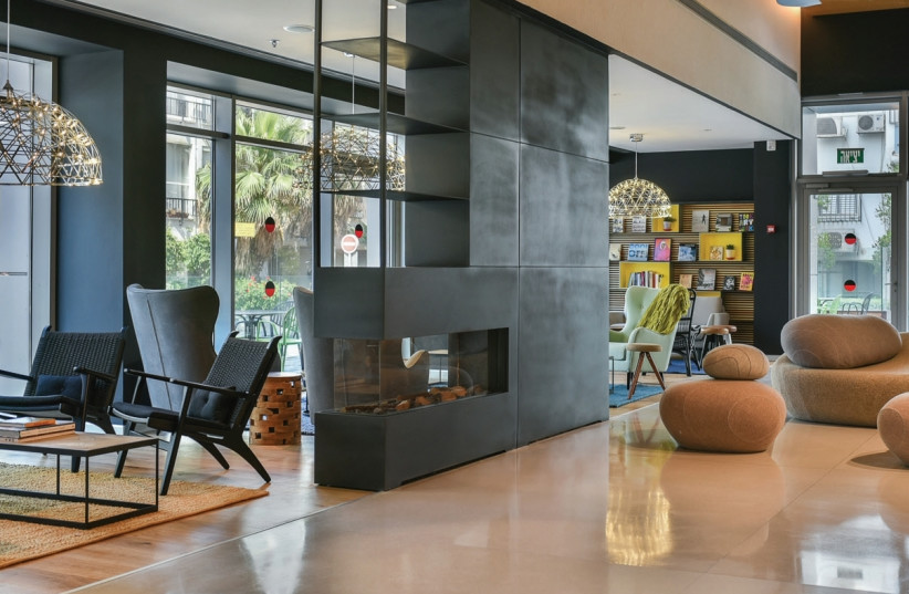 THE LOBBY of the Tal By the Beach Hotel in Tel Aviv (photo credit: SIVAN ASKAYO)