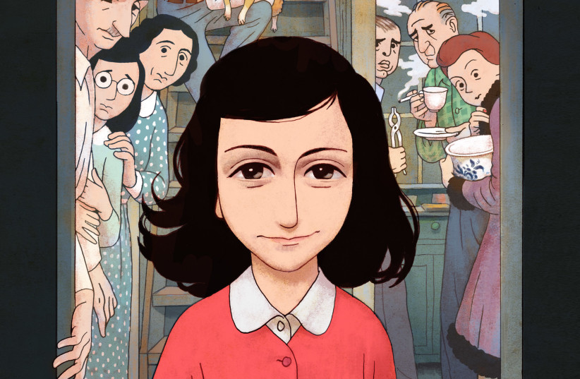 Cover of new Anne Frank graphic novel, courtesy of Anne Frank Fons  (photo credit: ANNE FRANK FONS)