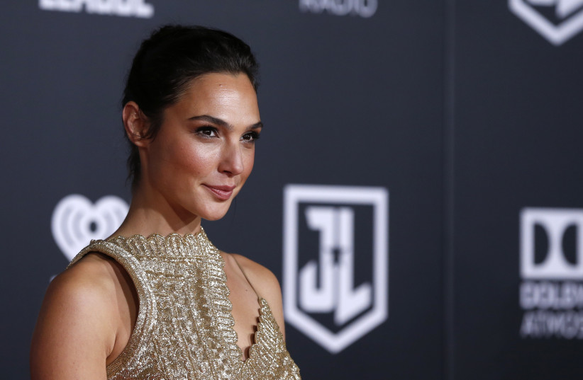 "Wonder Woman Gal Gadot poses at the premiere of ""Justice League"" (photo credit: MARIO ANZUONI/REUTERS)"