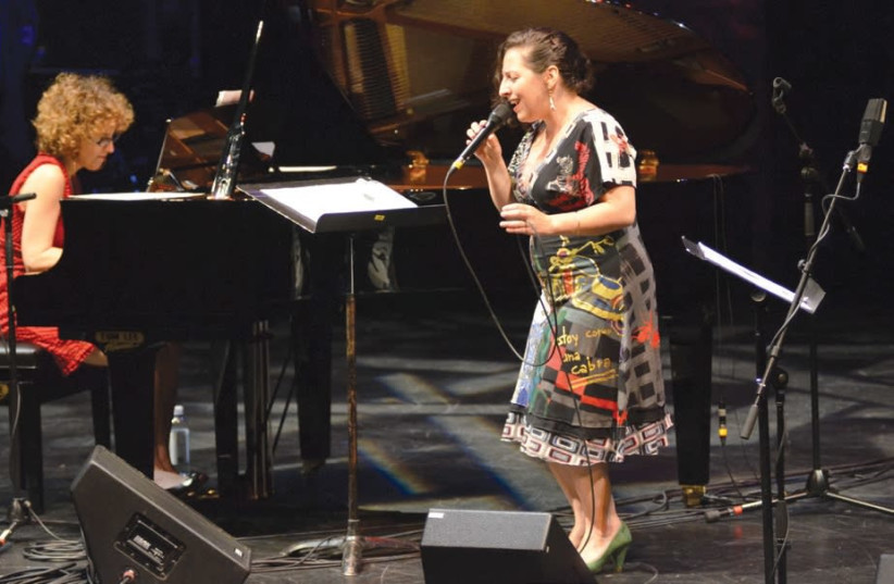 ISRAELI JAZZ pianist Anat Fort (left) performing with vocalist Ayelet Rose Gottlieb. (photo credit: BENTLY WONG)