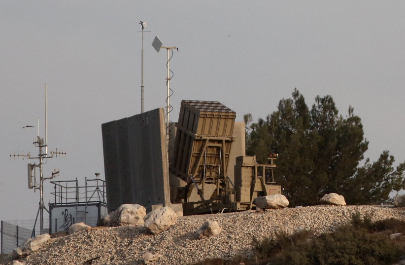 An Iron Dome battery in central Israel.  (photo credit: MARC ISRAEL SELLEM)