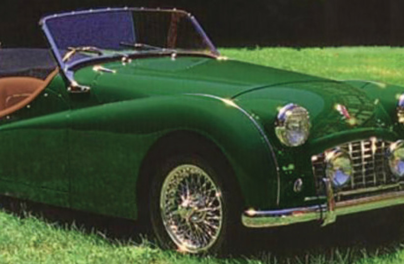 THE LONGED-FOR Triumph TR3, in British Racing Green (photo credit: Wikimedia Commons)