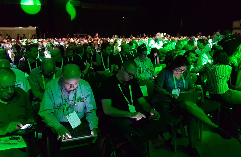 Hi-tech employees attend Nvidia's GPU Technology Conference in Tel Aviv last month, held for the first time in Israel (photo credit: Courtesy)