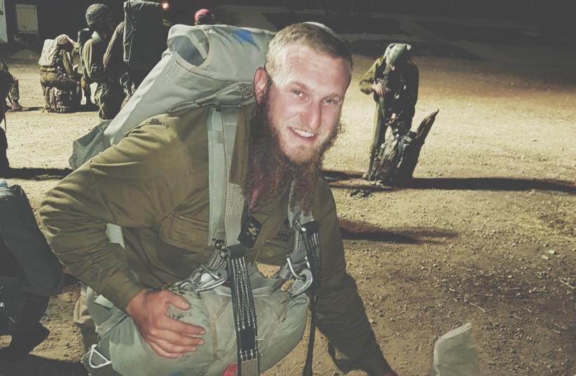 A Haredi soldier during training  (photo credit: NAHAL HAREDI ORGANIZATION)