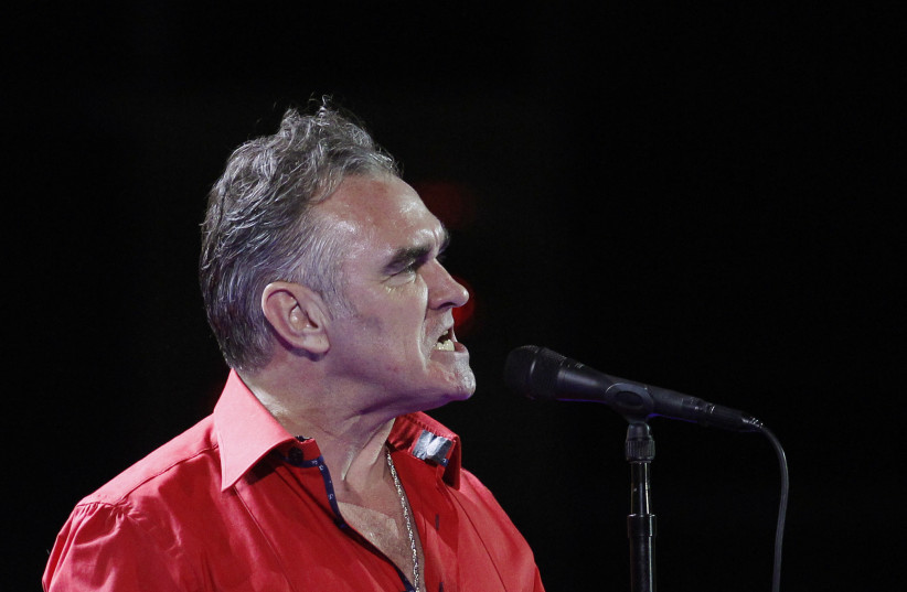 British singer-songwriter Morrissey performs during the International Song Festival in Vina del Mar, Chile. (photo credit: REUTERS)