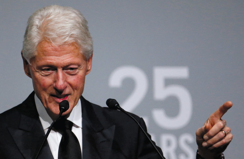 Bill CLINTON – creating a hostile environment for women. (Reuters) (photo credit: REUTERS)