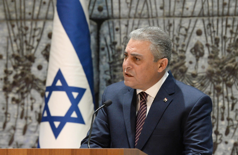 Egyptian ambassador to Israel Hazem Khairat (photo credit: MARC NEYMAN/GPO)