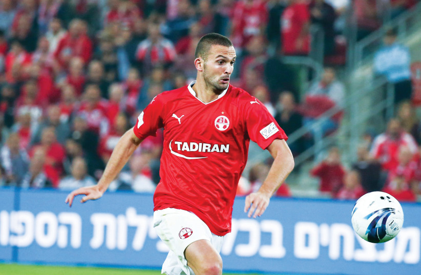 Hapoel Beersheba striker Ben Sahar looks to continue his prolific form when the reigning Israeli champion visits Lugano tonight in Europa League action in Switzerland. (photo credit: DANNY MARON)