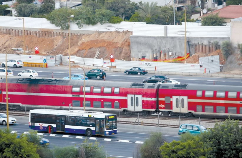 TRAIN LINE maintenance taking place on Shabbat led to tense disputes in the Knesset this week. (photo credit: MARC ISRAEL SELLEM/THE JERUSALEM POST)