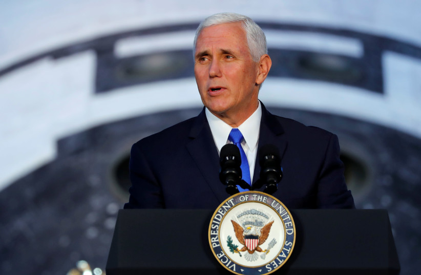 United States Vice President Mike Pence (photo credit: JONATHAN ERNST / REUTERS)