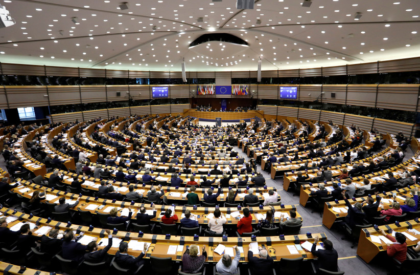 View of the European Parliament during a plenary session in Brussels, Belgium, March 2, 2017. (photo credit: REUTERS)