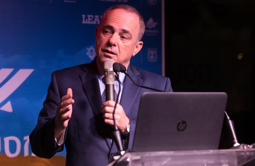 Yuval Steinitz at the Masa leadership summit. (photo credit: YANAI RUBAJA)