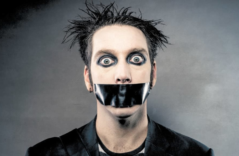 SILENCE IS golden: New Zealand comedian, mime and street performer Tape Face. (photo credit: A.D. ZYNE)