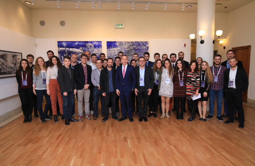 Member sof the European Student Union during their visit to Israel. (photo credit: SHLOMI MIZRAHI)