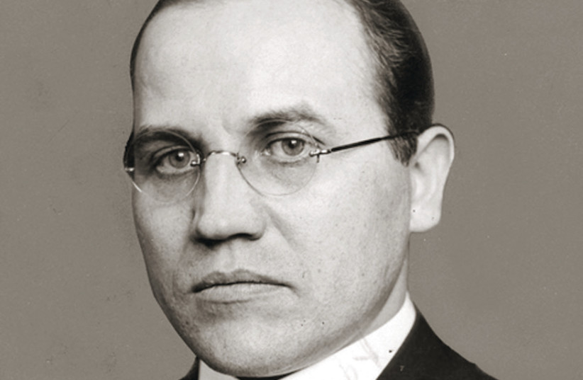 Kazys Skirpa, the Lithuanian representative to Germany who first proposed ethnic cleansing of Jews to Hitler, has streets named in his honor in two major Lithuanian cities (photo credit: Wikimedia Commons)