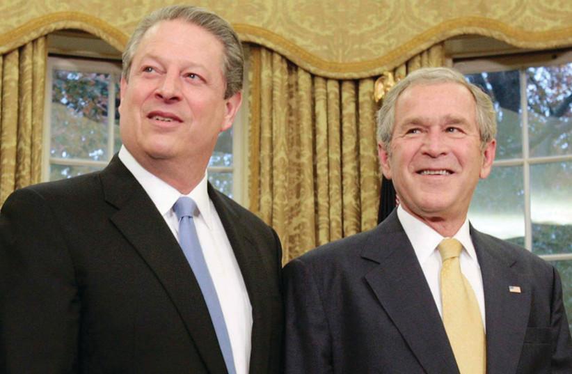 Al Gore and George W. Bush (credit: REUTERS)