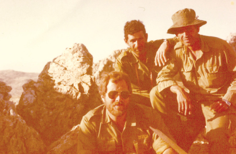 'OTHER THAN a crash course in crowd control, we were never trained for this.' The author (foreground) with two other members of his platoon near the village of Yanta, deep in eastern Lebanon, on June 12, 1982, the day after the cease-fire with the Syrians (photo credit: Courtesy)