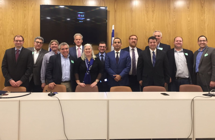 JCRC of Minnesota and the Dakotas meets with members of Knesset in Jerusalem, November 2017 (photo credit: RENEE SHARON)