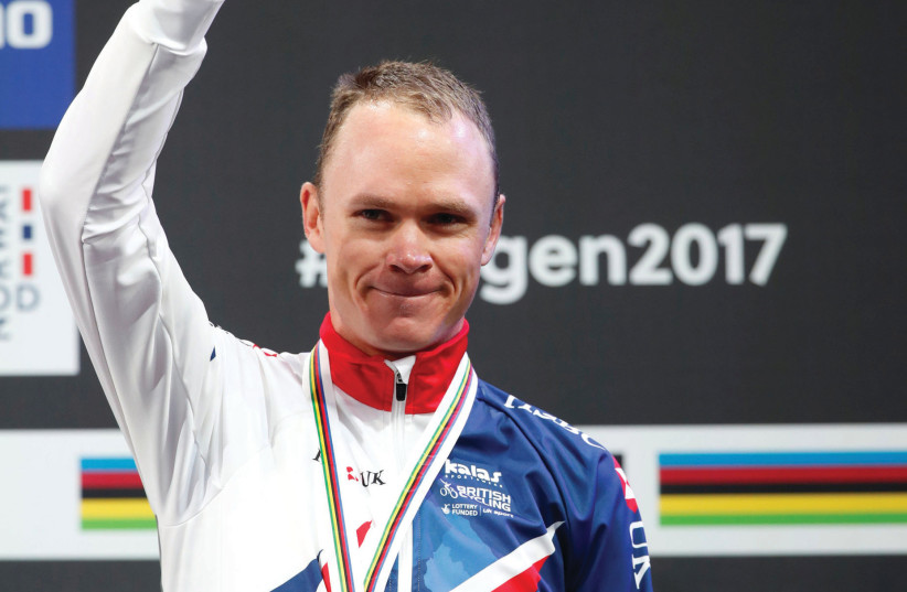 DESPITE INITIAL reports indicating otherwise, British cyclist Chris Froome will not receive any sort of 'appearance fee' for participating in the 2018 Giro d'Italia, which begins in Jerusalem. (photo credit: REUTERS)