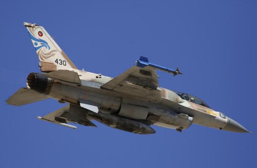 An Israeli F-16 fighter jet (photo credit: REUTERS/AMIR COHEN)