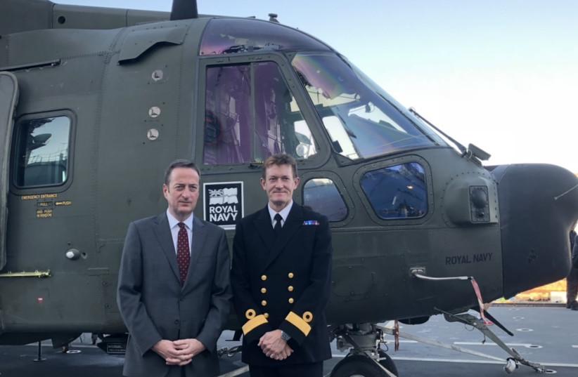 British Ambassador and Commodore James Morley (photo credit: ANNA AHRONHEIM)
