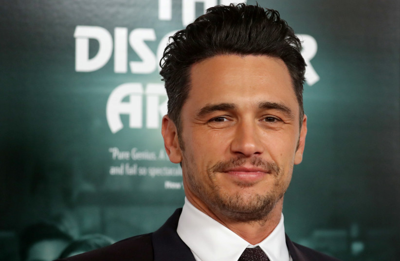 """James Franco at the gala presentation of """"The Disaster Artist"""" at the AFI Film Festival in Los Angeles, California, US, November 12, 2017.  (photo credit: REUTERS/MIKE BLAKE)"""