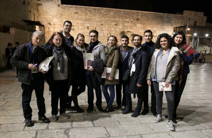 German-speaking Jewish leaders gather at the Western Wall in Jerusalem. (photo credit: YOEL KOSKAS PHOTOGRAPHY & ART)