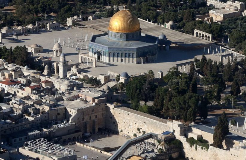 Old City of Jerusalem as seen from the air (photo credit: MARC ISRAEL SELLEM)