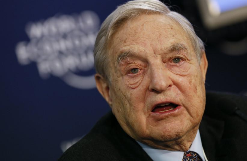 George Soros. (photo credit: PASCAL LAUENER / REUTERS)