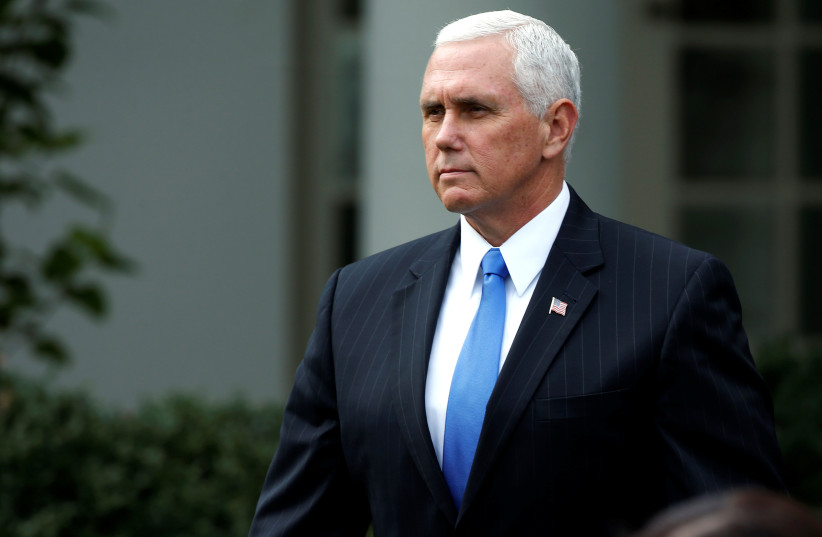 US Vice President Mike Pence (photo credit: JOSHUA ROBERTS / REUTERS)