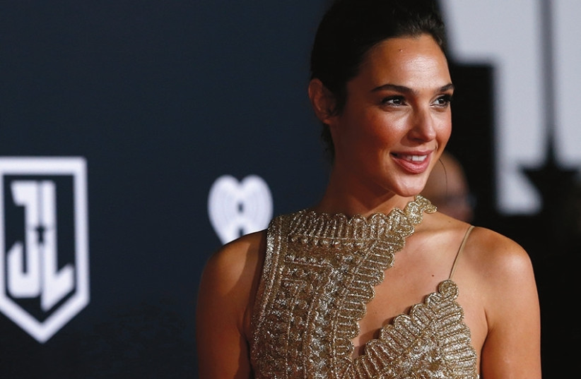 GAL GADOT at the premiere of 'Justice League' last month. (photo credit: REUTERS)