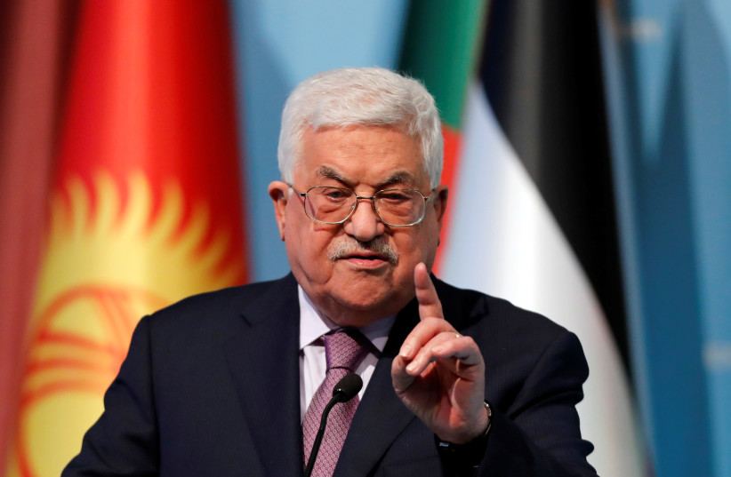 Palestinian Authority President Mahmoud Abbas speaks during a news conference following the extraordinary meeting of the Organisation of Islamic Cooperation (OIC) in Istanbul, Turkey (photo credit: REUTERS/OSMAN ORSAL)