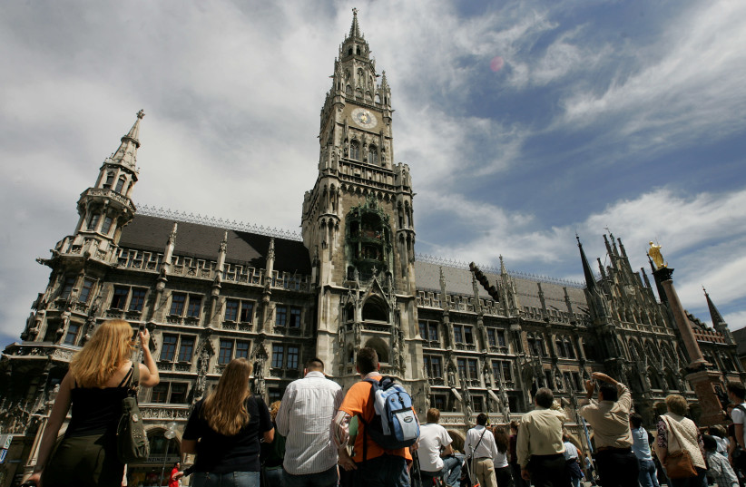 The town hall of Munich, Germany. (photo credit: ALEXANDRA BEIER / REUTERS)