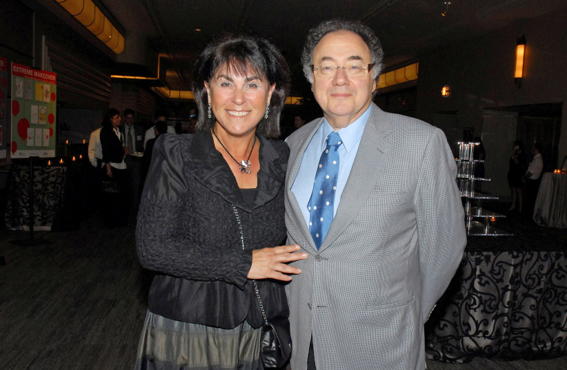 Billionaire Barry Sherman and wife Honey at a United Jewish Appeal annual event (photo credit: REUTERS/STRINGER)