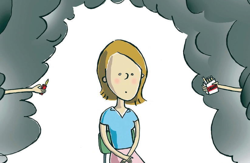Smoking is one of the most harmful activities and even second handsmoke does damage to the body. (photo credit: TNS)