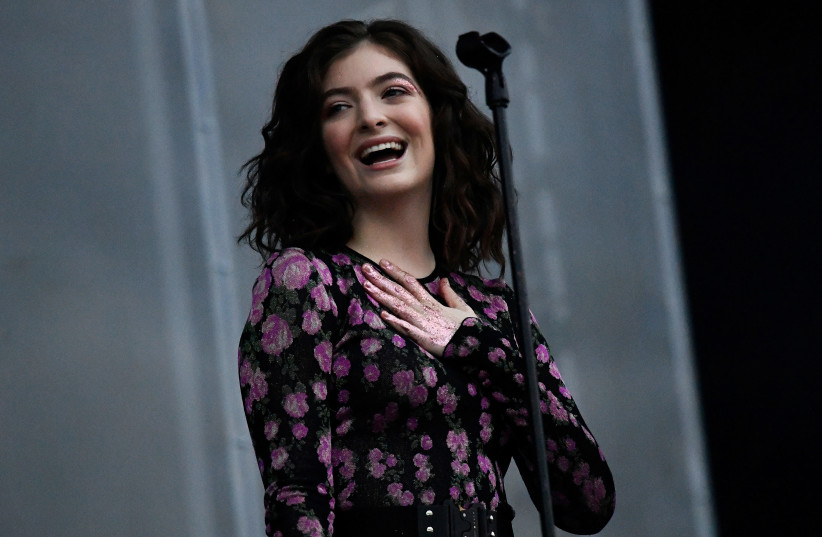 Lorde performs on the Other Stage at Worthy Farm in Somerset during the Glastonbury Festival in Britain (photo credit: DYLAN MARTINEZ/REUTERS)