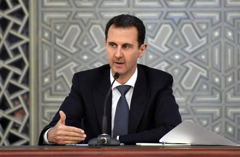 Syrian President Bashar al-Assad as seen in Damascus, Syria November 14, 2017. (photo credit: SANA/HANDOUT VIA REUTERS)