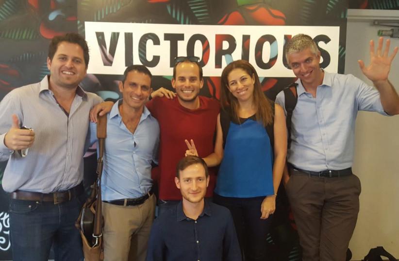 ITTAY HAYUT (bottom) and, from left, Yair Vardi, Aviram Sharon, Guy Katsovich, Liat Sade- Sternberg and Rami Kirshblum. (photo credit: FUSION LA)