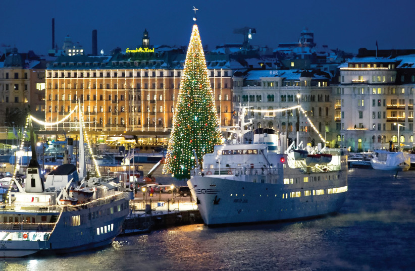 IT IS Christmas season in Stockholm. But all is not well. (photo credit: REUTERS)