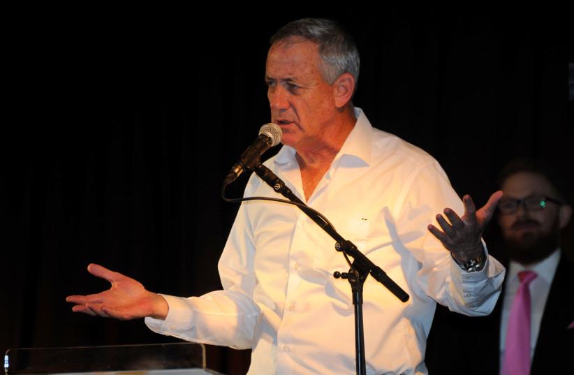 Former IDF chief of staff Benny Gantz speaks at Limmud FSU (photo credit: ROMAN YANUSHEVSKY)